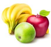 Комплект плодоовощ изолированный на белой предпосылке Стоковое Фото