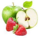 Комплект плодоовощ изолированный на белой предпосылке Стоковое Изображение RF