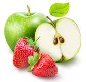 Комплект плодоовощ изолированный на белой предпосылке Стоковые Изображения
