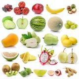 Комплект плодоовощ на белой предпосылке Стоковое Изображение