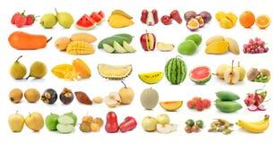 Комплект плодоовощ на белой предпосылке Стоковые Фото