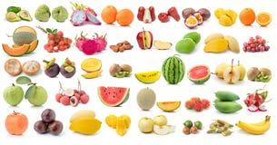 Комплект плодоовощ на белой предпосылке Стоковая Фотография
