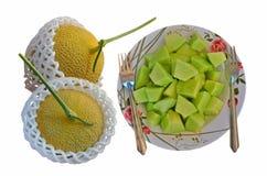 Комплект плодоовощ дыни на белой предпосылке Стоковые Фото