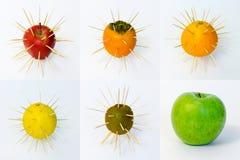 Комплект плодоовощ Стоковые Изображения