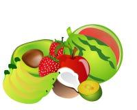 Комплект плодоовощ Стоковое Фото