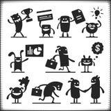 Комплект работы вектора characters Стоковые Изображения
