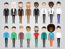 Комплект разнообразных бизнесменов Стоковое фото RF