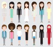 Комплект разнообразных бизнесменов Стоковое Фото