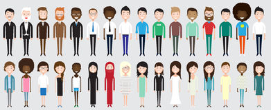 Комплект разнообразных бизнесменов Стоковая Фотография