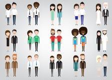Комплект разнообразных бизнесменов Стоковая Фотография RF