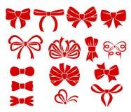 Комплект различного красного цвета обхватывает значки Стоковые Изображения