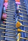Комплект различных аксессуаров для мини машины сверла Стоковое Изображение