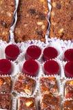 Комплект различных видов естественных десертов в коробке коробки Стоковые Фотографии RF
