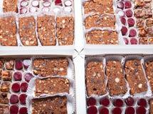 Комплект различных видов естественных десертов в коробке коробки Стоковое Изображение