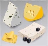 Комплект различных видов сыра Стоковая Фотография