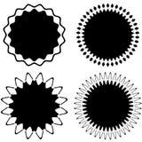 Комплект 4 различных геометрических круговых элементов Комплект конспекта иллюстрация штока