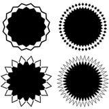 Комплект 4 различных геометрических круговых элементов Комплект конспекта иллюстрация вектора