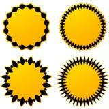 Комплект 4 различных геометрических круговых элементов Комплект конспекта бесплатная иллюстрация