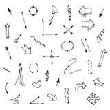 Комплект различных графических стрелок на белизне Стоковая Фотография RF