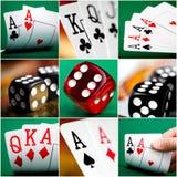 Комплект различных действий и сцен в казино стоковое фото
