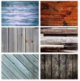 Комплект различных деревянных предпосылок Стоковая Фотография