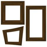 Комплект различных деревянных рамок Стоковое Изображение RF
