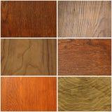 Комплект различных деревянных текстуры или предпосылки Стоковые Фотографии RF