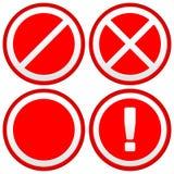 Комплект различных запрета/предупредительных знаков, дорожных знаков европа иллюстрация штока