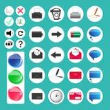 Комплект различных значков сети и компьютера - иллюстрации Стоковые Фото