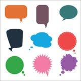 Комплект различных красочных пузырей речи, вектор Стоковое фото RF