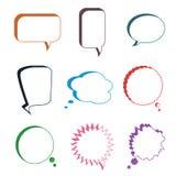 Комплект различных красочных пузырей речи, вектор Стоковая Фотография RF