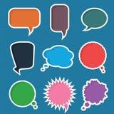 Комплект различных красочных пузырей речи, вектор Стоковое Изображение RF