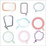 Комплект различных красочных пузырей речи в различных рамках, Vect Стоковые Фотографии RF