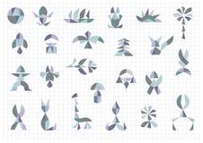 Комплект различных объектов и форм иллюстрация вектора