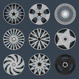 Комплект различных оправ колеса Стоковое фото RF