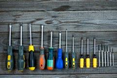 Комплект различных отверток Стоковое Изображение RF