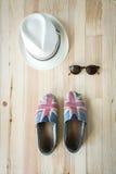 Комплект различных одежд и аксессуаров для женщин Стоковые Изображения