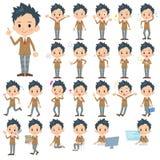 Комплект различных представлений школьника Стоковое Изображение RF