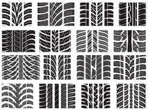 Комплект различных профилей шины иллюстрация вектора