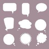Комплект различных пузырей речи, вектор Стоковые Изображения RF