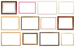 Комплект различных современных деревянных картинных рамок Стоковое Изображение