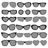 Комплект различных солнечных очков стилей Стоковое Изображение
