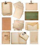 Комплект различных старых бумажных листов Стоковые Изображения