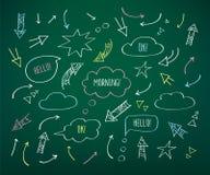 Комплект различных стрелок и пузырей речи Стоковые Фото