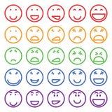 Комплект различных улыбок Стоковые Изображения RF
