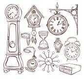 Комплект различных часов Стоковое Изображение