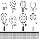 Комплект ракеток и шариков Стоковое Фото