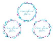 Комплект рамки вектора флористической Стоковые Фото