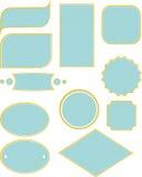 Комплект рамки и ярлыка для рамок Иллюстрация вектора