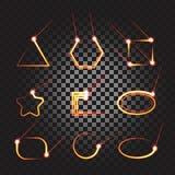 Комплект рамки трассировки лазера Стоковое Фото